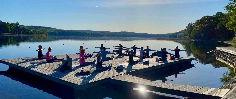 Nature Pilates vid sjön